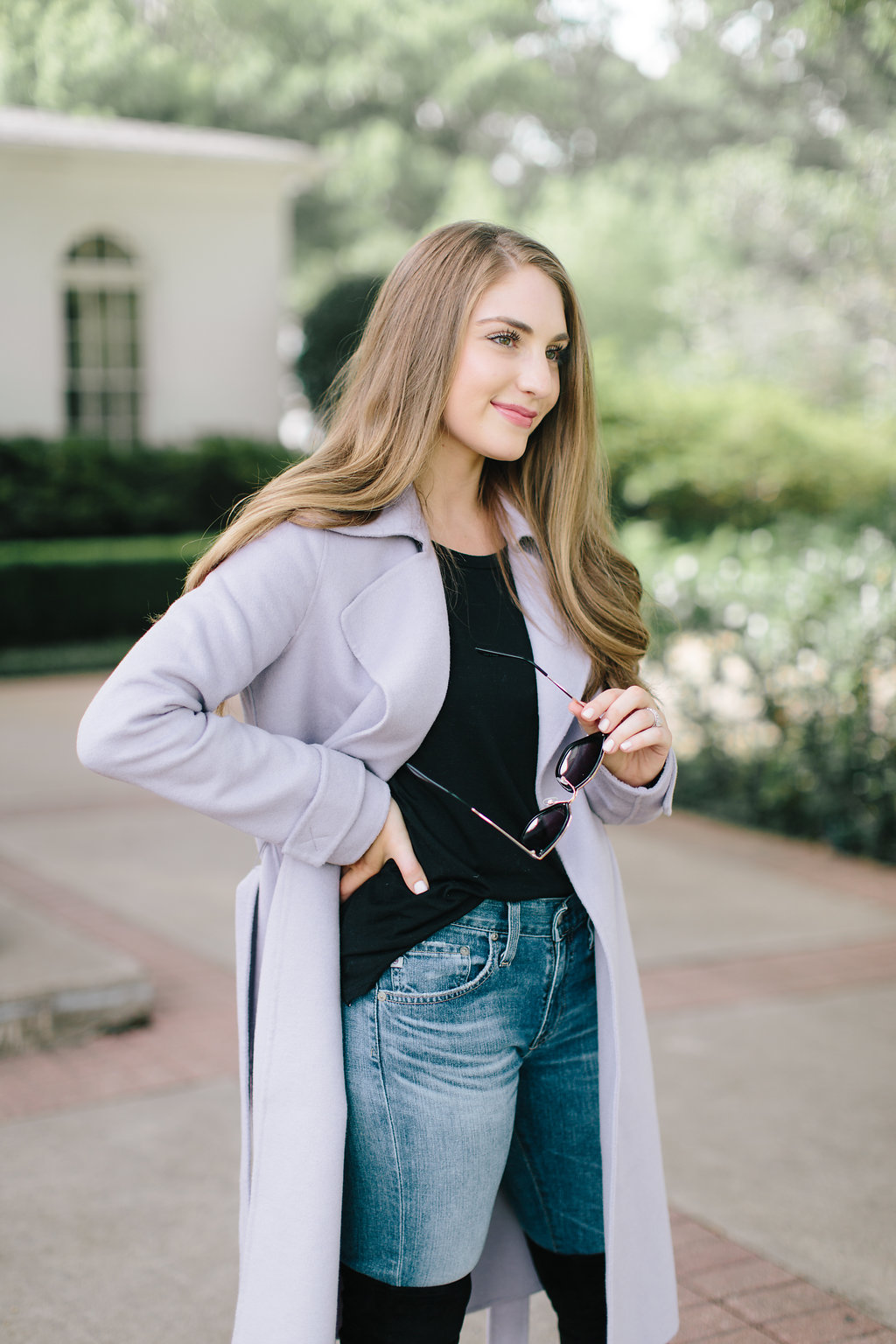 Lavender trench coat | Miss Madeline Rose