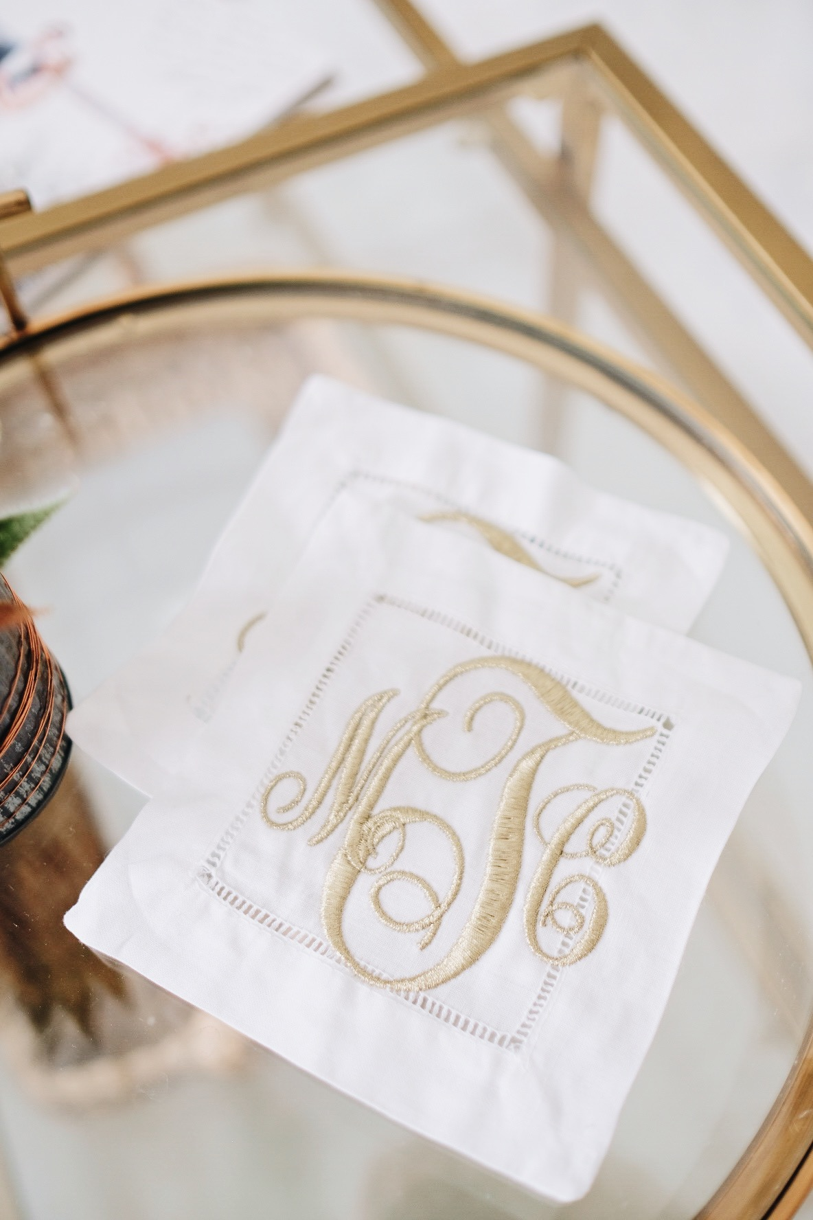 Embroidered linen coasters | Miss Madeline Rose