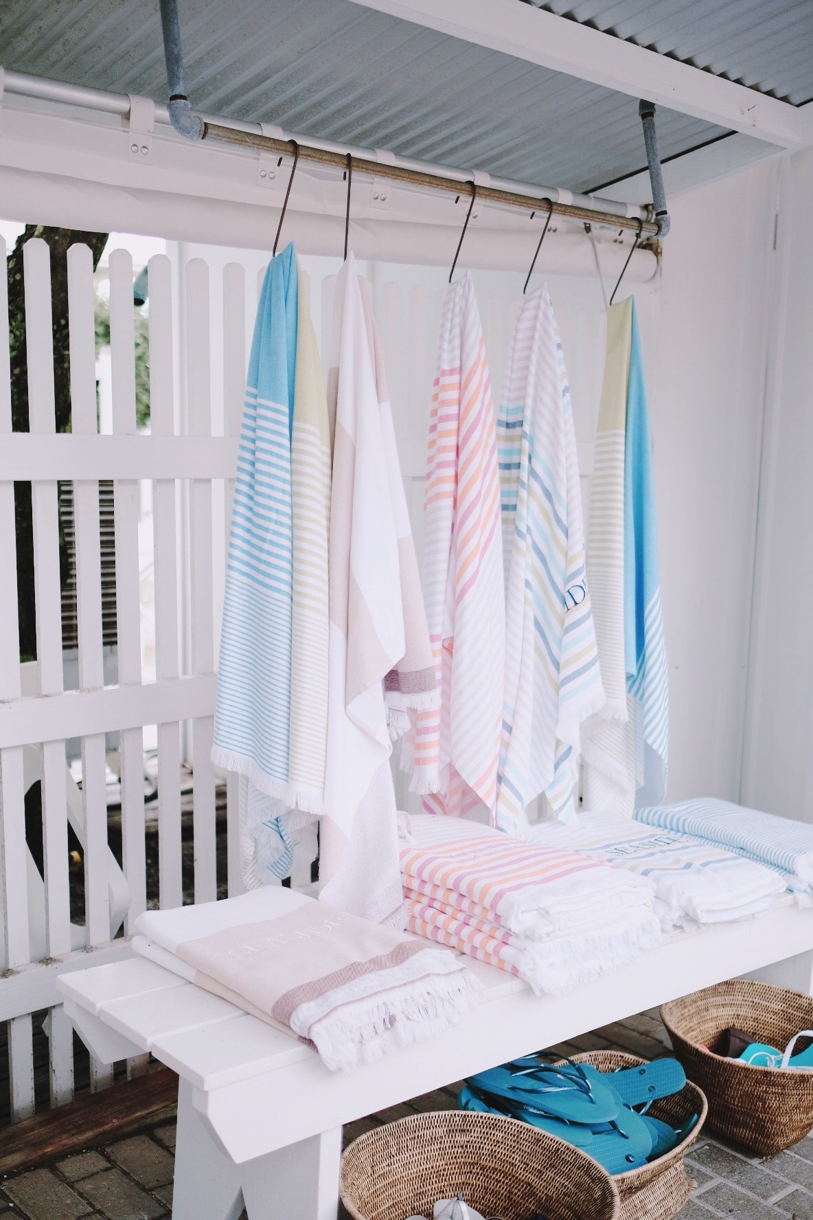 Striped beach towels | Miss Madeline Rose