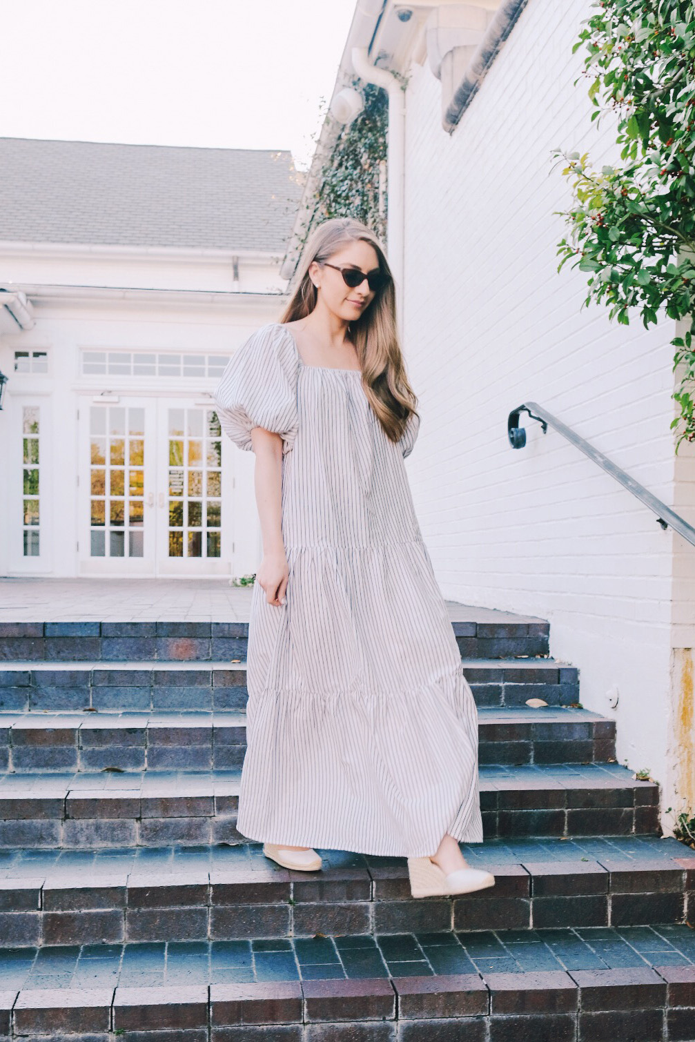 Statement sleeves maxi dress | Miss Madeline Rose